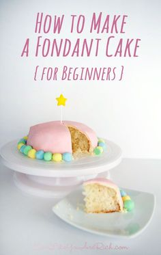 I've never used fondant until last week. And to be honest I have always been a little scared to try it. But I decided to give it a whirl. It wasn't nearly as hard as I thought it would be. And althoug (Chocolate Fondant How To Make) Cake Decorating With Fondant, Creative Cake Decorating, Cake Decorating Classes, Creative Cakes, Decorating Ideas, Cakes To Make, How To Make Cake, Köstliche Desserts, Delicious Desserts
