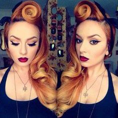 Who loves this suicide roll and makeup look?