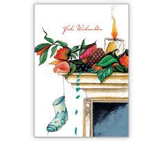 Klassische Weihnachtskarte Nikolaus Socke am Kamin: Frohe Weihnachten - http://www.1agrusskarten.de/shop/klassische-weihnachtskarte-nikolaus-socke-am-kamin-frohe-weihnachten/    00018_0_1818, 24.12., Festtage, Geschenke, Glückwünsche, Heiligabend, Kamin, Kerze, Strumpf, Weihnachtskarten00018_0_1818, 24.12., Festtage, Geschenke, Glückwünsche, Heiligabend, Kamin, Kerze, Strumpf, Weihnachtskarten