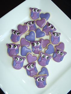 Owl cookies and Hearts