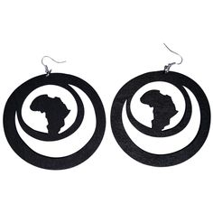 Africa within earrings  Shop online now at www.EthnicEarring.com