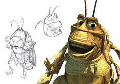 A Bug's Life character developement A Bugs Life Characters, Pixar Characters, Pixar Character Design, Character Concept, Concept Art, Animation Film, Disney Animation, Animation Studios, Disney Pixar Movies