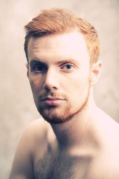 Red hair blue eyes
