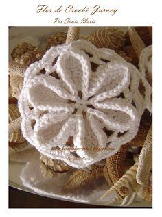 """SPEAKING OF CROCHET"": flower... Kinda reminds me of a seashell"