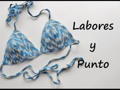Cómo tejer un bikini crochet / Tutorial | Patrones para Crochet Bikini Crochet Patron, Motif Bikini Crochet, Bikinis Crochet, Crochet Lace Edging, Diy Crochet, Crochet Top, Knitting Videos, Crochet Videos, Halter Bikini