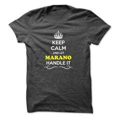 Keep Calm and Let MARANO Handle it - #gift for women #grandma gift. HURRY => https://www.sunfrog.com/LifeStyle/Keep-Calm-and-Let-MARANO-Handle-it.html?68278