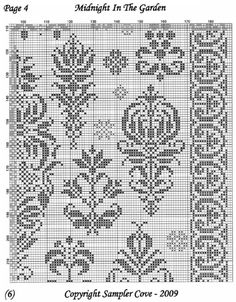 ru / Фото - Midnight in the Garden - Cross Stitch Sampler Patterns, Cross Stitch Freebies, Cross Stitch Borders, Cross Stitch Alphabet, Cross Stitch Samplers, Cross Stitching, Halloween Embroidery, Diy Embroidery, Cross Stitch Embroidery