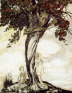The Hawthorn Tree, 1922, Arthur Rackham. English Illustrator (1867-1939)