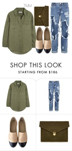"""""""Untitled #1604"""" by theblushingbeauty ❤ liked on Polyvore featuring Equipment, One Teaspoon, Chanel and J.Lindeberg"""