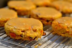Sweet Potato and Cranberry Scones with Brown Sugar Icing - #Holiday Recipe at Chew Nibble Nosh