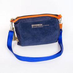 Sac Bensimon Mat & shiny line- Mini bag marine