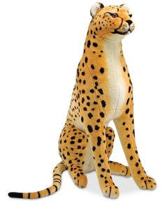 Buy Cheetah Giant Stuffed Animal Plush - Melissa & Doug at Mighty Ape Australia. Beauty and elegance define cheetahs in the wild. This tame cheetah, over four feet from the tip of its nose to the tip of its tail, is content to sit . Giant Plush, Giant Stuffed Animals, Cheetah Animal, Cheetah Cubs, Cheetah Print, Melissa & Doug, Cheetahs, Plush Animals, Baby Toys
