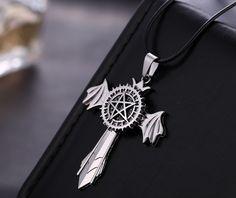 Black Butler Cross Anime Necklace