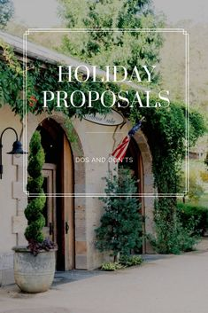 Proposals over the holidays are inevitable, so we're laying out our top 6 Do's and Don'ts to help your holiday proposal be the best they can be!