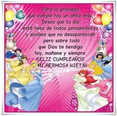 Tarjetas De Feliz Cumpleaños Para Una Nieta Lista Happy Birthday Ballons, Happy Birthday Fun, Birthday Wishes, I Love My Daughter, Good Morning Quotes, Birthdays, Messages, Magdalena, Color Rosa