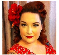 ❤ victory rolls and flowers