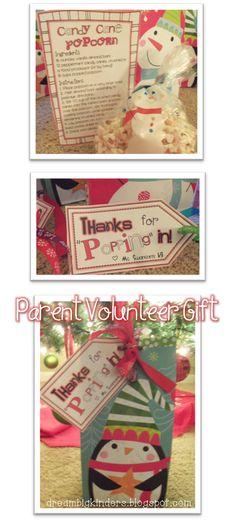 Parent Volunteer gift idea and a freebie!  dreambigkinders.blogspot.com