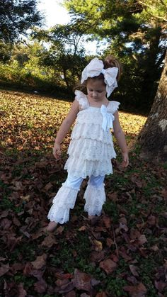 Little Girls Ruffled Dress & BloomersLace by MYSWEETCHICKAPEA, $129.00