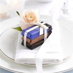 Green  Blacks wedding favours