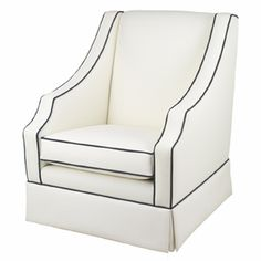 Cohen Soft White Nursery Glider by Oilo ~ on sale at 15% off - sale expires 12/31/12