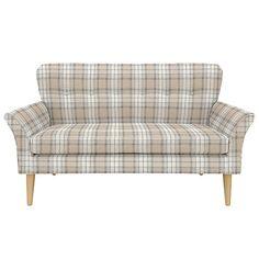 Buy John Lewis Carrie Petite Sofa, Beatrix Check Natural Online at johnlewis.com