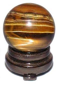 Tiger Eye Sphere - Gemstone Mineral Crystal Ball