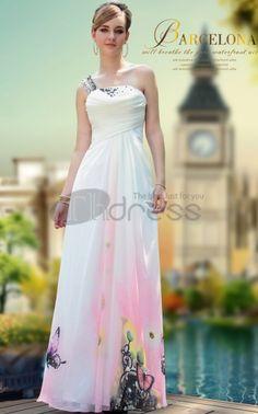 Party Dresses For Girls Elegant Fashion Printed One Shoulder Party Dresses