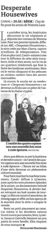 """""""Desperate Housewives"""" (Le Monde Télévision)"""