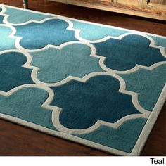 nuLOOM Luna Moroccan Trellis Rug (7'6 x 9'6) (Teal), Blue, Size 8' x 10' (Polyester, Abstract)
