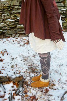 made to order doily print leggings. by hodgepodgefarm, via Etsy.