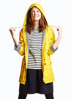 The rainy day classic: the iconic Petit Bateau yellow raincoat.