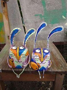 Купить заяц - заяц, зайка, Папье-маше, папье-маше, дерево, акриловые краски