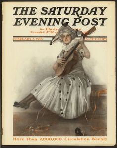 SATURDAY EVENING POST February 8, 1913 VALENTINE'S DAY COVER
