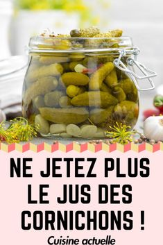 Voilà pourquoi vous ne devez plus jeter le jus des cornichons - food recipe Vegetarian Lunch, Vegetarian Recipes Dinner, Lunch Recipes, Crockpot Recipes, Healthy Recipes, Greek Recipes, Food Hacks, Cooking Tips, Food And Drink