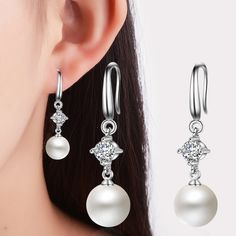 Aliexpress.com : Buy Natural Freshwater Pearl Earrings 2017 White Genuine Real Natural Teardrop Pearl Jewelry For Women Wedding Earrings Bridal Gift from Reliable Underwear suppliers on ModaOne Jewellery Store