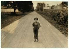 Want Any More Men? 7 year old Alec applying for job on tobacco farms.  ARTIST:Lewis Hine OWNER:Library of Congress