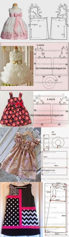 Little girl dress patterns Baby Dress Patterns, Kids Patterns, Coat Patterns, Blouse Patterns, Print Patterns, Sewing Patterns, Little Dresses, Little Girl Dresses, Baby Girl Red Dress