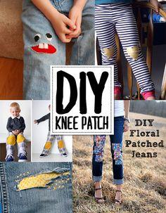 Tons of DIY knee patch ideas! AndreasNotebook.com