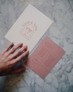 Le collectif fun et moderne de votre mariage Cream and dusty rose, with a burnt pink ink for Sash and Nish who chose the HALCYON collection for their invitations. Stationary Design, Menu Design, Layout Design, Print Design, Pop Design, Wedding Invitation Design, Wedding Stationary, Wedding Logo Design, Wedding Branding