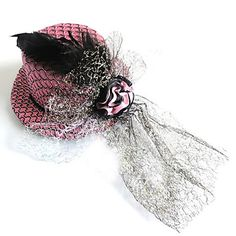 Elegant+Meshy+Rose+Decorated+Hat+for+Pets+Dogs+(Assorted+Colors)+-+USD+$+8.19