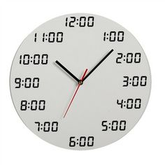 Artori Design |  Analogous Digital Wall Clock