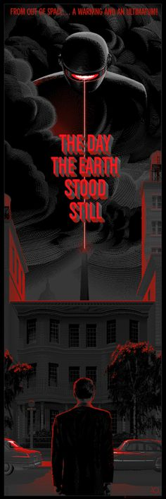 The Day The Earth Stood Still | Revisited Movie Posters by Laurent Durieux