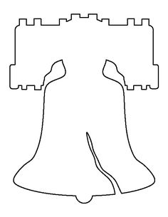 Fourth-Of-July-Liberty-Bell-Craft Template For Kids