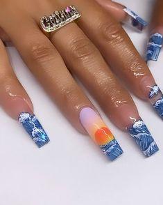 Cute Acrylic Nail Designs, Cute Acrylic Nails, Fire Nails, Nail Tech, Nail Artist, Nail Inspo, Aesthetic Art, Nails Inspiration, You Nailed It