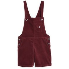 Pocket Velvet Dungarees ($40) ❤ liked on Polyvore featuring jumpsuits, shorts, pants, bottoms, overall, velvet overalls, red jumpsuit, velvet jumpsuit et red bib overalls