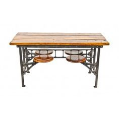 Hard To Find And Highly Desirable Early 20th Century American Vintage  Industrial Refinished Four Swing