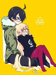 Shinobu and Araragi Fanart, All Anime, Anime Art, Shinobu Oshino, Kiss Shot, Otaku, Anime Rules, Monogatari Series, Demon Slayer