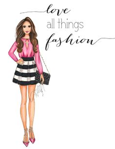 Custom Design for Logo/Headers/Business Cards Featuring a Fashion Illustration