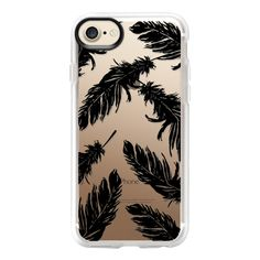 Black Feather - iPhone 7 Case And Cover ($40) ❤ liked on Polyvore featuring accessories, tech accessories, phone, phone cases, iphone case, apple iphone case, clear iphone case, iphone cover case and iphone cases