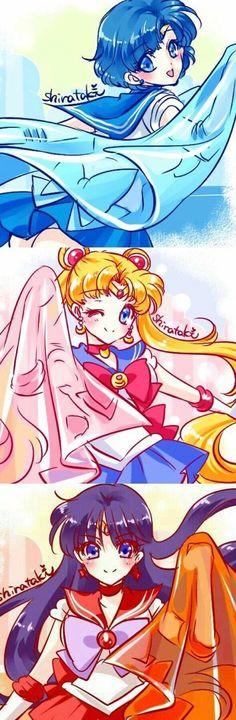 Sailor Mars, Sailor Moon & Sailor Mars by Shirataki Sailor Mars, Sailor Moon Manga, Arte Sailor Moon, Sailor Jupiter, Sailor Venus, Sailor Scouts, Manga Anime, Anime Art, Princess Serenity